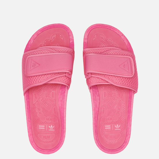 Сланцы adidas Originals x Pharrell Williams Boost Slide Semi Solar Pink/Semi Solar Pink/Semi Solar Pink