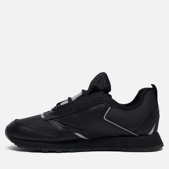 Кроссовки Reebok Classic Leather Premier Black/Black/Silver Metallic