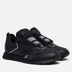 Кроссовки Reebok Classic Leather Premier Black/Black/Silver Metallic