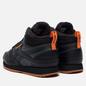 Мужские кроссовки Reebok Classic Leather Mid Ripple Black/True Grey/High Vis Orange фото - 2