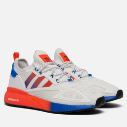 Кроссовки adidas Originals ZX 2K Boost White/Solar Red/Blue