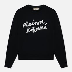Женская толстовка Maison Kitsune Handwriting Black