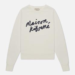 Женская толстовка Maison Kitsune Handwriting Ecru