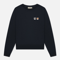 Женская толстовка Maison Kitsune Double Fox Head Patch Anthracite