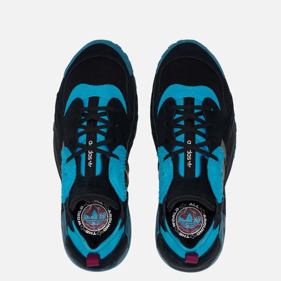Мужские кроссовки adidas Originals Streetball Low Core Black/Signal Cyan/Power Berry