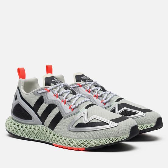 Мужские кроссовки adidas Originals ZX 2K 4D White/Core Black/Signal Pink