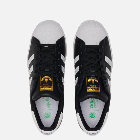 Кроссовки adidas Originals Superstar Vegan Core Black/White/Gold Metallic