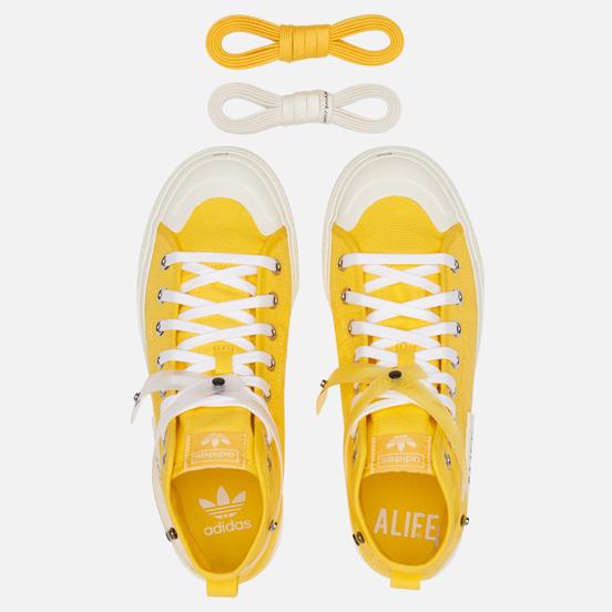 Кеды adidas Originals x Alife Nizza High Wonder Glow/Off White/Off White