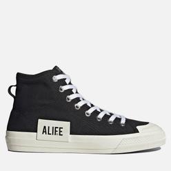 Кеды adidas Originals x Alife Nizza High Core Black/Off White/Off White