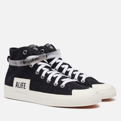 Кеды adidas Originals x Alife Nizza High Core Black/Off White/Off White