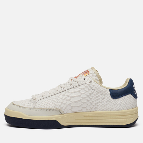 Мужские кроссовки adidas Consortium Rod Laver Reptile Deboss Leather Core White/Core White/Collegiate Navy