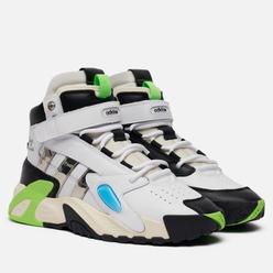 Мужские кроссовки adidas Originals x Sankuanz Streetball Forum White/Silver Metallic/Solar Green