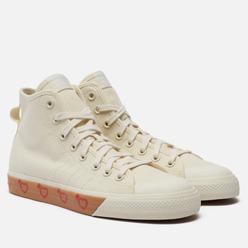 Мужские кеды adidas Originals x Human Made Nizza High Off White/Off White/Off White