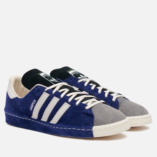 Мужские кроссовки adidas Consortium x Recouture Campus 80s SH Dark Blue/Chalk White/Core Black