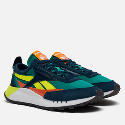Кроссовки Reebok Classic Leather Legacy Mineral Blue/Court Green/Solar Yellow