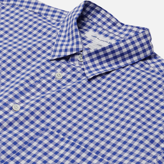 Мужская рубашка Comme des Garcons SHIRT Forever Gingham Blue