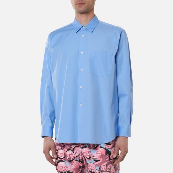 Мужская рубашка Comme des Garcons SHIRT Forever Wide Сlassic Cotton Poplin Sky