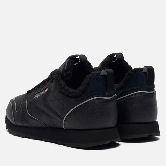 Мужские кроссовки Reebok Classic Leather Low Winter Black/Black/Hivior