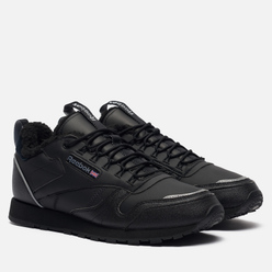 Мужские кроссовки Reebok Classic Leather Low Winter Black/Black/Hivior