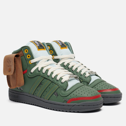 Кроссовки adidas Originals x Star Wars Top Ten Hi Boba Fett Trace Green/Trace Green/Scarlet