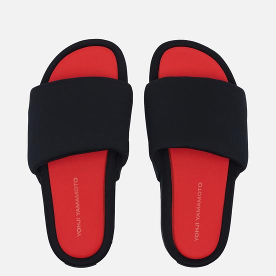 Сланцы Y-3 Slide Black/Black/Red
