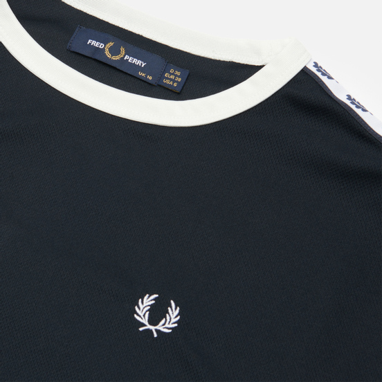 Женская футболка Fred Perry Boxy Taped Ringer Navy