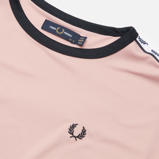Женская футболка Fred Perry Boxy Taped Ringer Chalky Pink