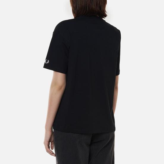 Женская футболка Fred Perry Arch Branded Black