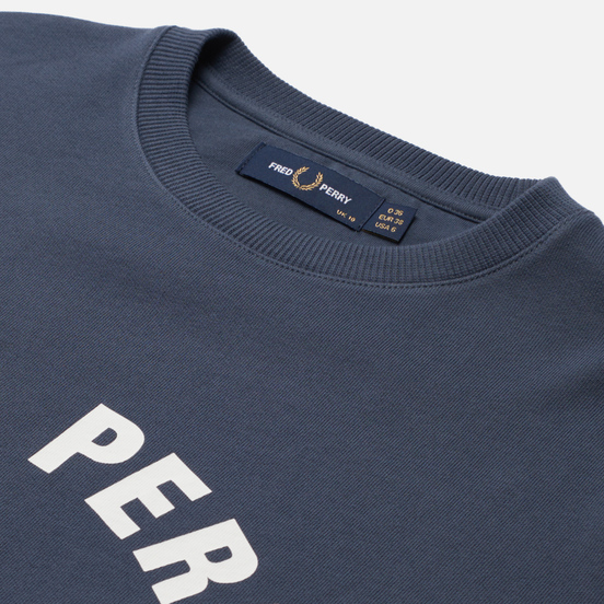 Женская толстовка Fred Perry Arch Branded Crew Ombre Blue