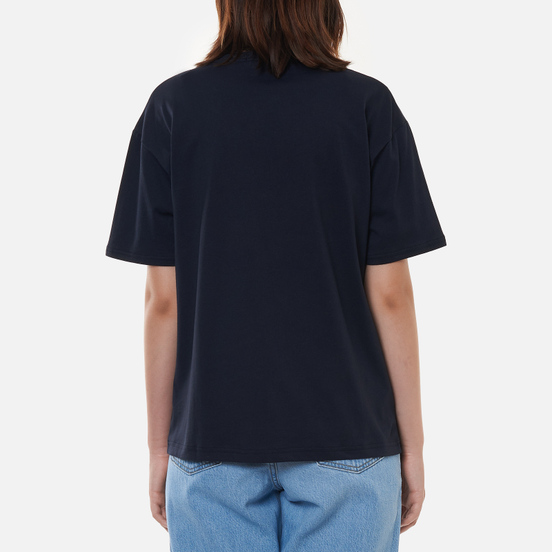 Женская футболка Fred Perry Crew Neck Navy