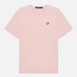 Женская футболка Fred Perry Crew Neck Chalky Pink
