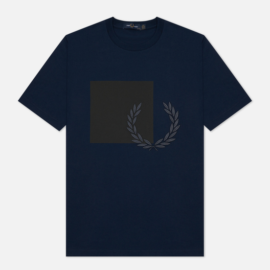 Женская футболка Fred Perry Printed Graphic Carbon Blue