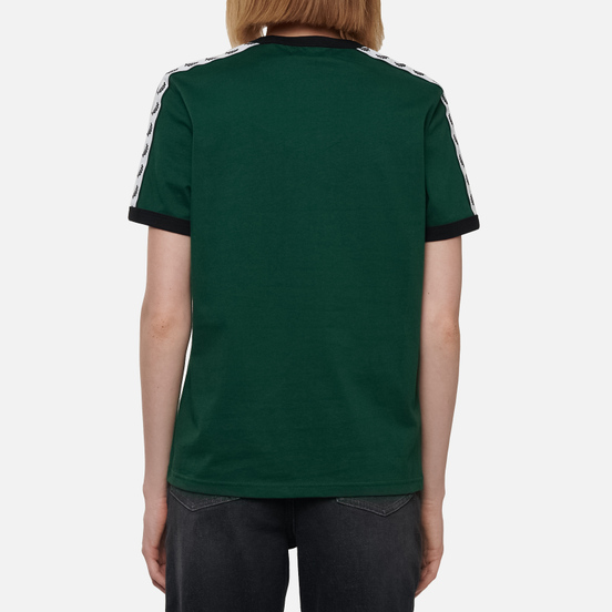 Женская футболка Fred Perry Laurel Sports Authentic Taped Ringer Ivy