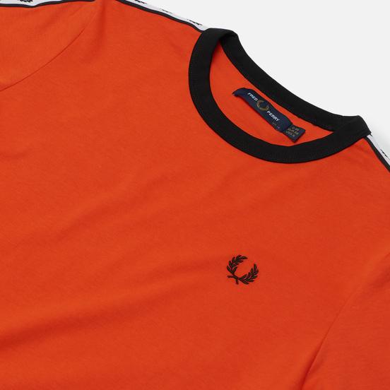 Женская футболка Fred Perry Laurel Sports Authentic Taped Ringer Tangerine Tango