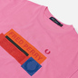 Женская футболка Fred Perry Colour Block Graphic Print Cocktail фото - 1