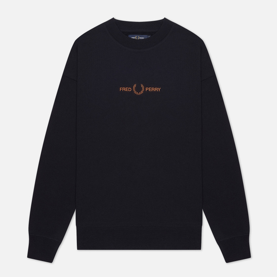 Женская толстовка Fred Perry Embroidered Navy