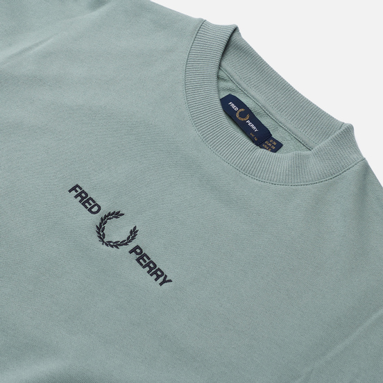 Женская толстовка Fred Perry Embroidered Silver Blue