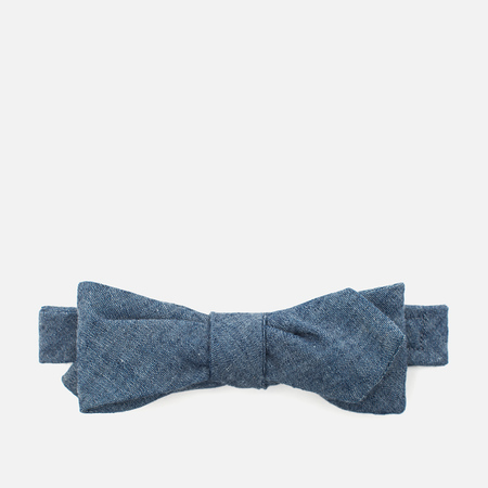 The Hill-Side Selvedge Chambray Men's Bow Tie Indigo