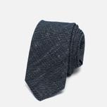 Мужской галстук Nanamica Stripe Pique Linen Navy фото- 0