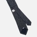 Мужской галстук Nanamica Stripe Pique Linen Navy фото- 1