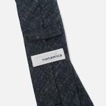 Мужской галстук Nanamica Stripe Pique Linen Navy фото- 2