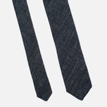 Мужской галстук Nanamica Stripe Pique Linen Navy фото- 3