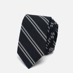 Мужской галстук Nanamica Stripe Pique Navy/White фото- 0