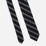 Мужской галстук Nanamica Stripe Pique Navy/White фото- 3