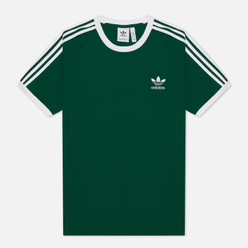 Мужская футболка adidas Originals 3-Stripes Dark Green