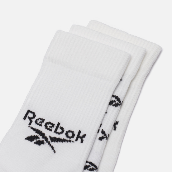 Комплект носков Reebok 3-Pack Classic Fold-Over Crew White