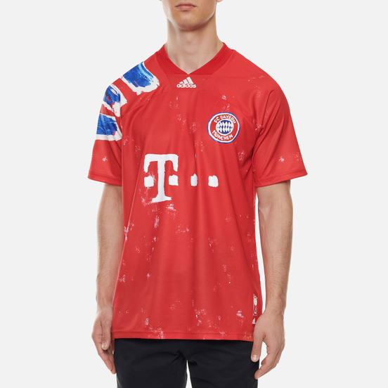 Мужская футболка adidas Performance x Human Race FC Bayern Jersey True Red/White