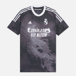 Мужская футболка adidas Performance x Human Race Real Madrid Jersey Black/White