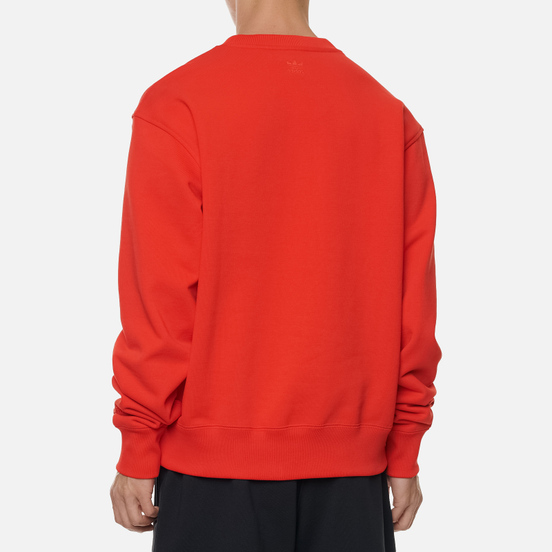Мужская толстовка adidas Originals x Pharrell Williams Basics Crew Active Red