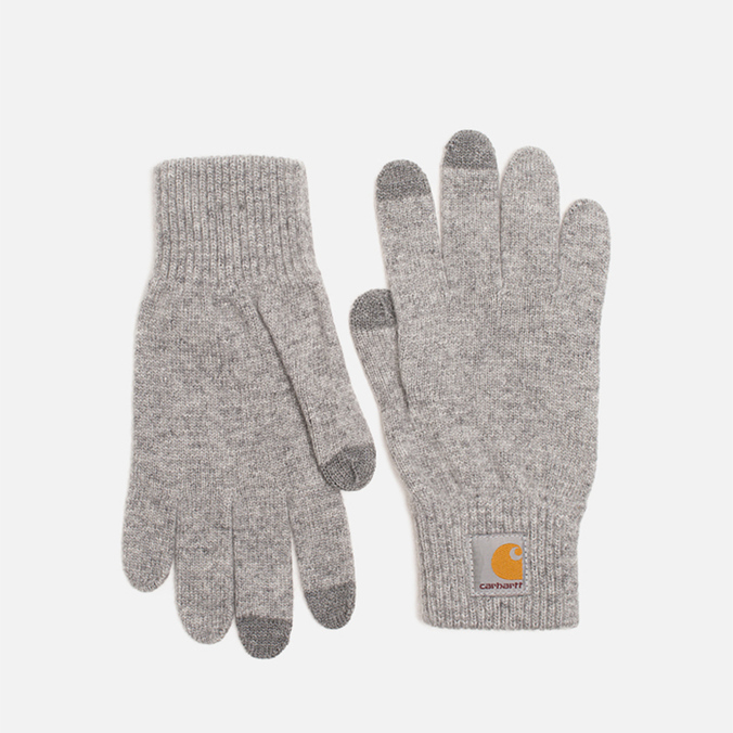 Carhartt WIP Touch Screen Gloves Grey Heather